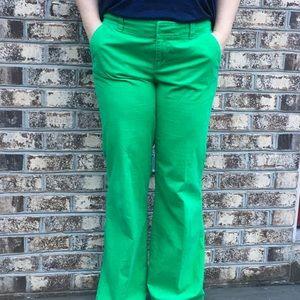 Lilly Pulitzer Wide Leg Kelly Green Corduroy Pants
